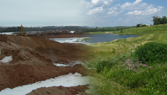 Mine reclamation before and after